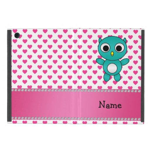 Corazones conocidos personalizados del rosa del bú iPad mini carcasa