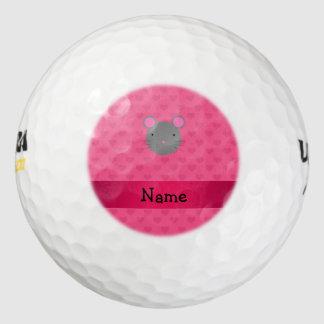Corazones conocidos personalizados del rosa del pack de pelotas de golf