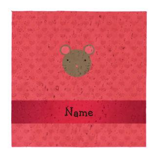 Corazones conocidos personalizados del rosa del posavasos