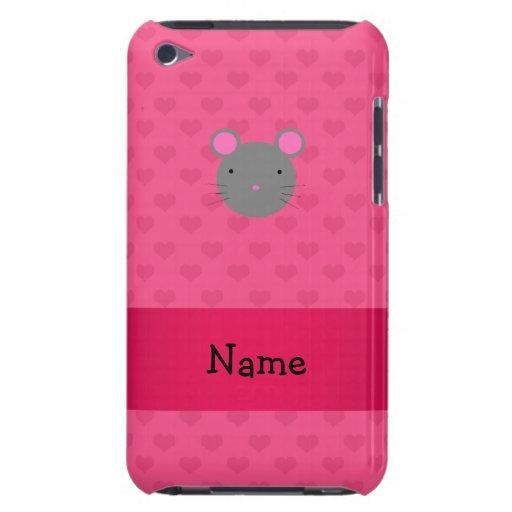 Corazones conocidos personalizados del rosa del ra iPod touch protectores