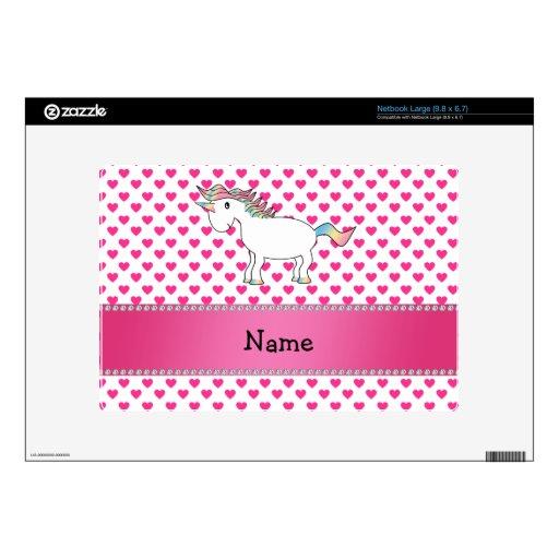 Corazones conocidos personalizados del rosa del un netbook skins