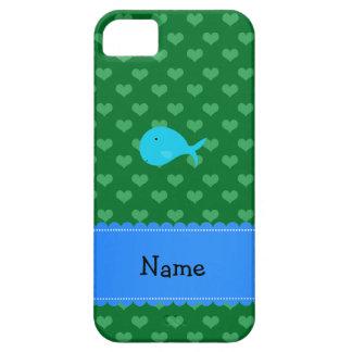 Corazones conocidos personalizados del verde de la iPhone 5 fundas