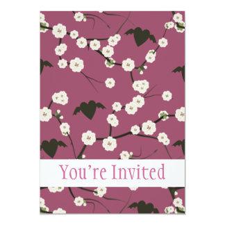 Corazones cons alas flor de cerezo color de rosa comunicado personal