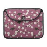 Corazones cons alas flor de cerezo color de rosa p funda para macbooks