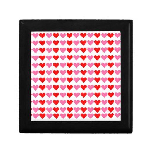 Corazones, corazones, caja de regalo de los corazo