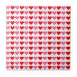 Corazones, corazones, corazones teja  ceramica
