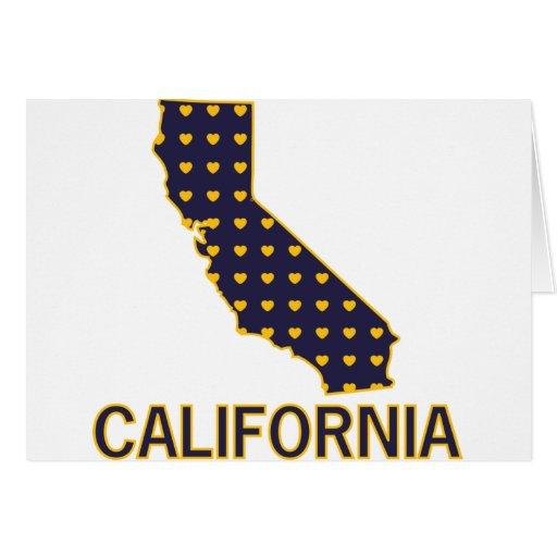 Corazones de California Tarjeta De Felicitación