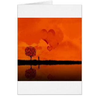 Corazones de color rojo oscuro frescos abstractos tarjeta de felicitación
