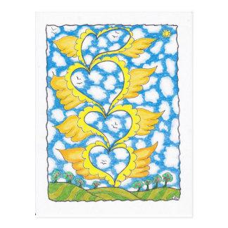 CORAZONES DE CUATRO ALAS de Ruth I. Rubin Postal