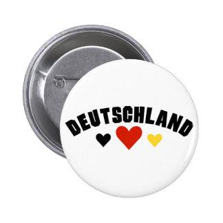 Corazones de Deutschland Pin Redondo De 2 Pulgadas