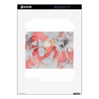 Corazones de Gkass iPad 2 Calcomanías