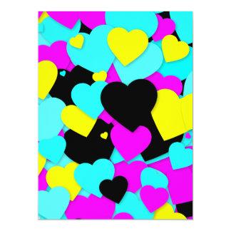 Corazones de Heartful de la tarjeta del día de San Comunicados Personales