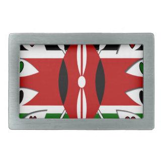 Corazones de Kenia Hebilla Cinturon Rectangular