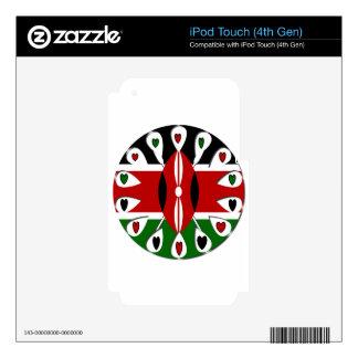 Corazones de Kenia iPod Touch 4G Calcomanía