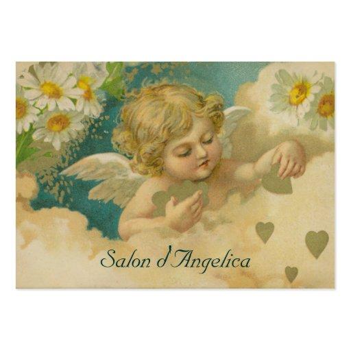 Corazones de la angélica y tarjetas rechonchas ele plantillas de tarjeta de negocio