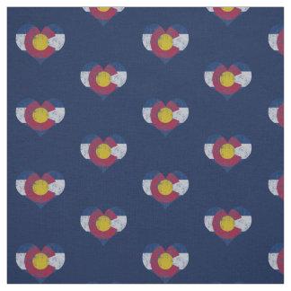Corazones de la bandera de Colorado del vintage Telas