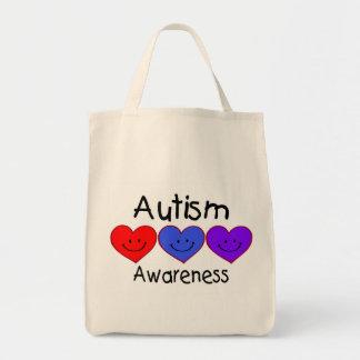 Corazones de la conciencia del autismo bolsas