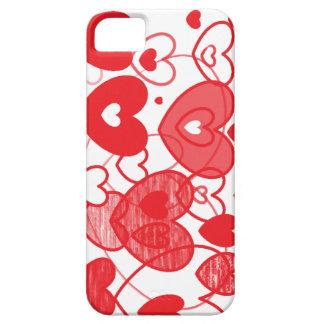 corazones de la cubierta del iphone del amor funda para iPhone 5 barely there