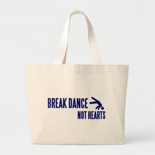Corazones de la danza de rotura no bolsa tela grande