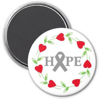 Corazones de la diabetes de la esperanza imán de frigorífico