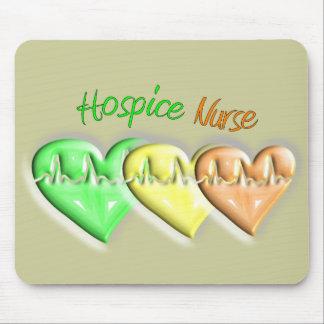 Corazones de la enfermera 3D del hospicio Tapete De Ratones
