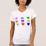 Corazones de la experiencia camisetas