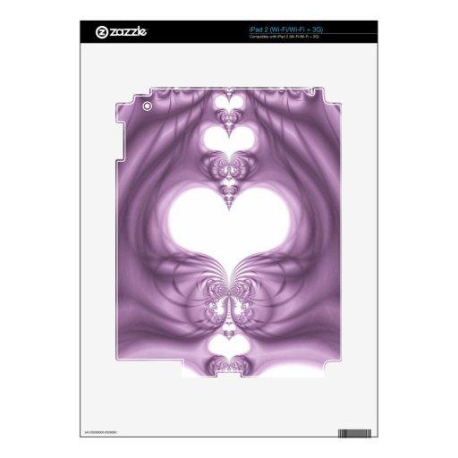 Corazones de la fantasía calcomanías para iPad 2