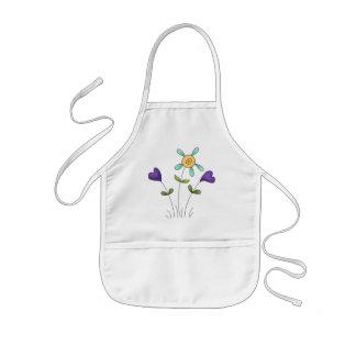 Corazones de la flor delantal infantil
