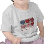 Corazones de la galleta de la tarjeta del día de S Camiseta