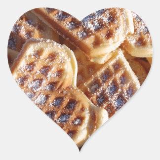 Corazones de la galleta pegatina en forma de corazón