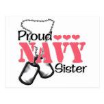 Corazones de la hermana de la marina de guerra tarjetas postales