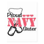 Corazones de la hermana de la marina de guerra postal