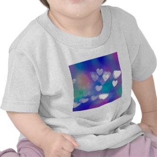 Corazones de la luz camiseta