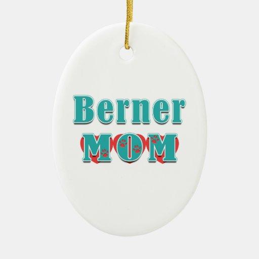 Corazones de la mamá de Berner Adorno Navideño Ovalado De Cerámica