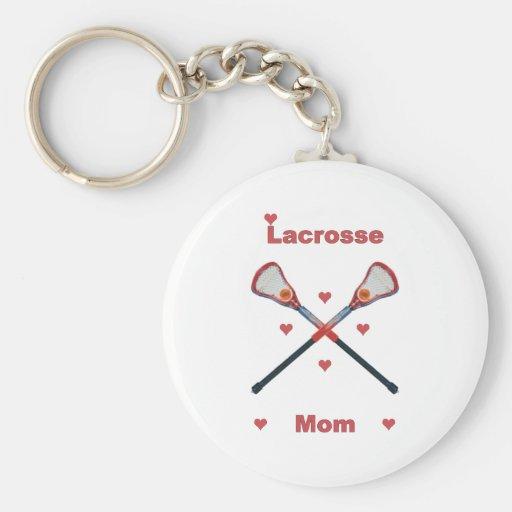Corazones de la mamá de LaCrosse Llavero Redondo Tipo Pin