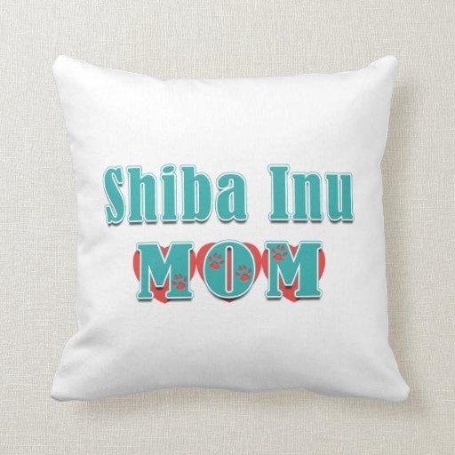 Corazones de la mamá de Shiba Inu Cojines