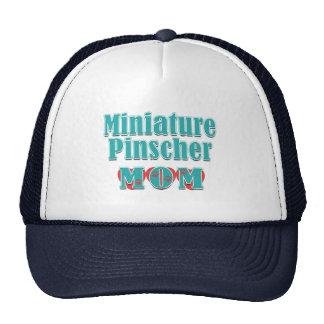 Corazones de la mamá del Pinscher miniatura Gorros