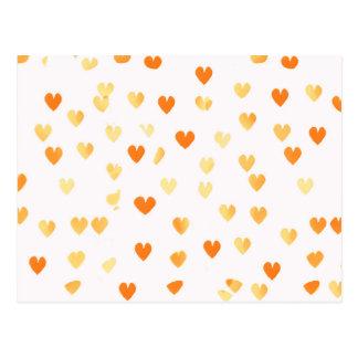 Corazones de la mandarina tarjeta postal
