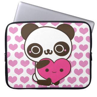 Corazones de la panda manga portátil
