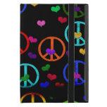 Corazones de la paz del arco iris iPad mini protectores