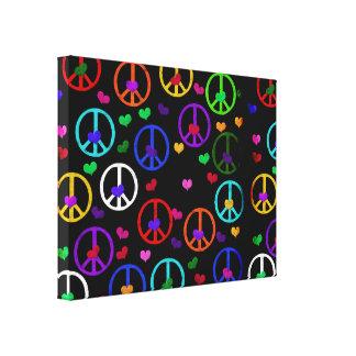 Corazones de la paz del arco iris