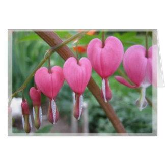 corazones de la primavera tarjeta pequeña