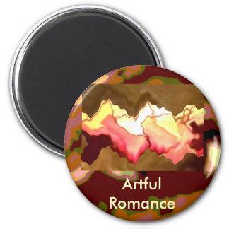 Corazones de la sonrisa del rosa - tocados por un  imán redondo 5 cm