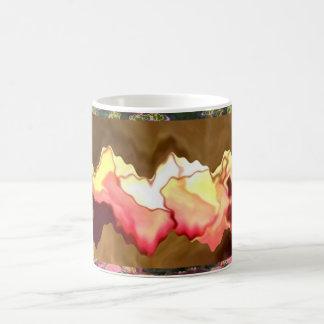 Corazones de la sonrisa del rosa - tocados por un taza