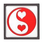 Corazones de la tarjeta del día de San Valentín de Caja De Recuerdo De Calidad