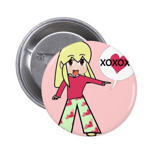 Corazones de la tarjeta del día de San Valentín de Pin Redondo 5 Cm