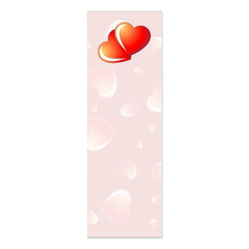 Corazones de la tarjeta del día de San Valentín Tarjetas De Visita