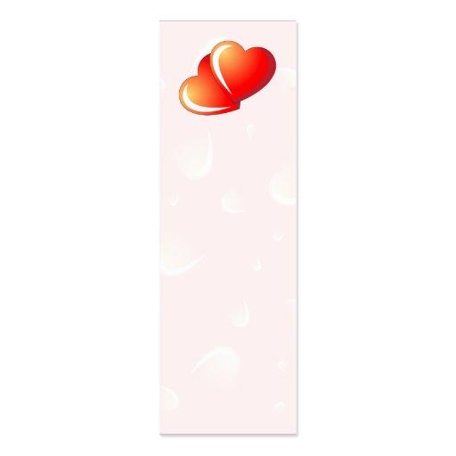 Corazones de la tarjeta del día de San Valentín Tarjeta De Visita