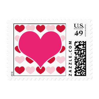 Corazones de la tarjeta del día de San Valentín Timbres Postales