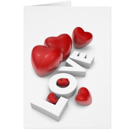 Corazones de la tarjeta del día de San Valentín y